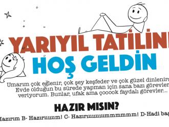 """Tatil Zili Çaldı: Şimdi Evde Etkinlik Zamanı! İşte """"Üç Yüz Seksen Dört Saat""""  Görev Listesi"""